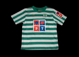 Child football shirt from the first Puma season with Sporting Lisbon 06 07