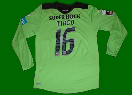 Goalkeeper jersey prepared for Tiago, Sporting 2011/12. Not actually worn on the field