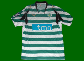 Camisa do Sporting de jogo Champions League Tonel 2007/08