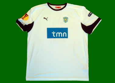 2010/11. Camisola Torsiglieri Sporting, branca de reserva