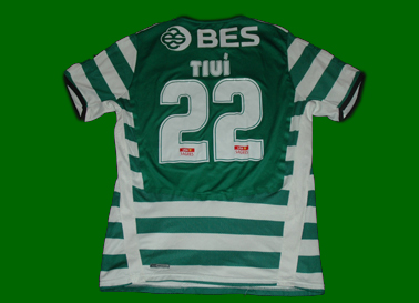 Rodrigo Tiuí, match worn top of Brasilian striker