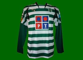 2007/08. Hooped match worn jersey of Simon Vukcevic