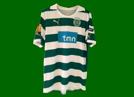 equipamento do Xandão do jogo fora Manchester City Sporting 15 de Março de 2012 Taça Europa
