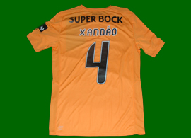 Match worn Sporting Lisbon jersey prepared for Xandao, Portugal Cup and League Cup issue