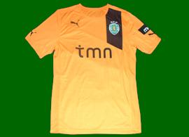 equipamento de jogo do Sporting preparado para Xandão, modelo Taça da Liga e Taça de Portugal