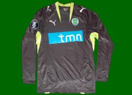 2007/08. away Sporting Lisbon UEFA Cup black jersey of Djalo
