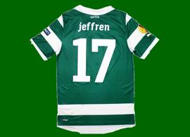 camisola Jeffren Sporting Liga Europa