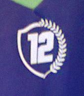 2013/14. Camisola nº 12 alternativa, com o emblema da Iniciativa 12º jogador