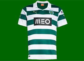 nova Camisola listada do Sporting, com patrocínio MEO 2013/14