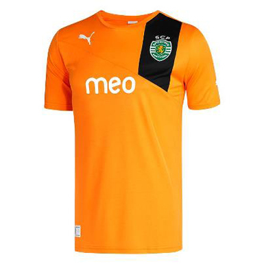 novo equipamento alternativo cor de laranja do Sporting 2012 2013