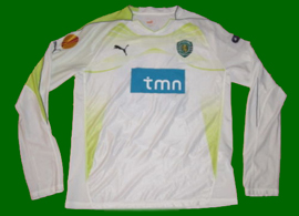 patched up white goalie kit Sporting Lisbon Ricardo Batista Europe League