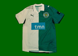 Portugal Cup match worn shirt, player Liedson 2010, signed