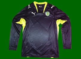 Black away top, long sleeves, without sponsor