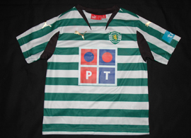 Small child sporting Lisbon top, for 5/6 years of age 2007/08