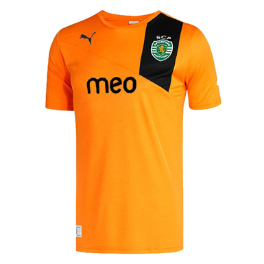 nova camisola alternativa cor de laranja do Sporting 2012 2013