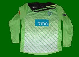 camisola de guarda redes Marcelo Boeck Lazio Sporting Liga Europa