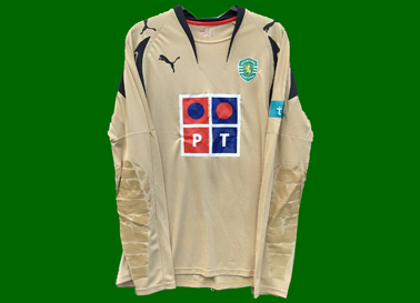 2007/08. Camisola de guarda redes dourada