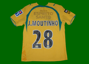 2006/07. Camisola alternativa amarela do Moutinho