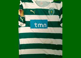 match worn football shirt Bojinov Lazio Sporting Liga Europa
