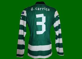 equipamento de jogo do Sporting listado usado por Daniel Carriço num jogo da Liga Europa 2012/13
