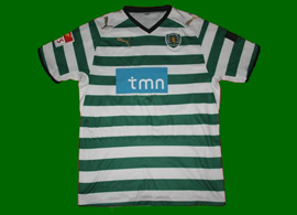 hoops matchworn jersey Miguel Veloso Sporting Portugal 08/09 Puma