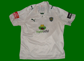 Terceira camisola branca do Vukcevic Sporting 08 09