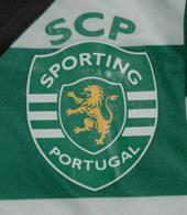 Sporting 2012/2013. Hooped shirt from a baby's mini kit, 5-6 years old