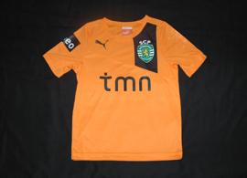 Sporting 2012/2013. 5-6 year old child size orange away mini kit