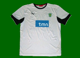 equipamento de reserva Liga Europa do Sporting alternativo branco 2010 2011