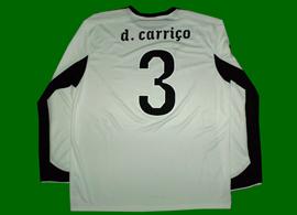 Sporting Portugal 2010/11. Equipamento branco, o quarto utilizado nesta época. Player issue do Daniel Carriço. Sem patch de nenhuma competição, não é de jogo