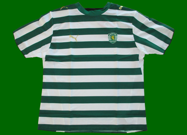 Sporting 2006/07 Home top, without sponsor