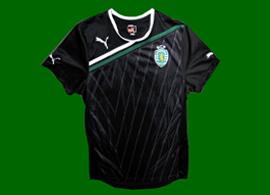 Camisa de treino preta do Sporting 2011 2012