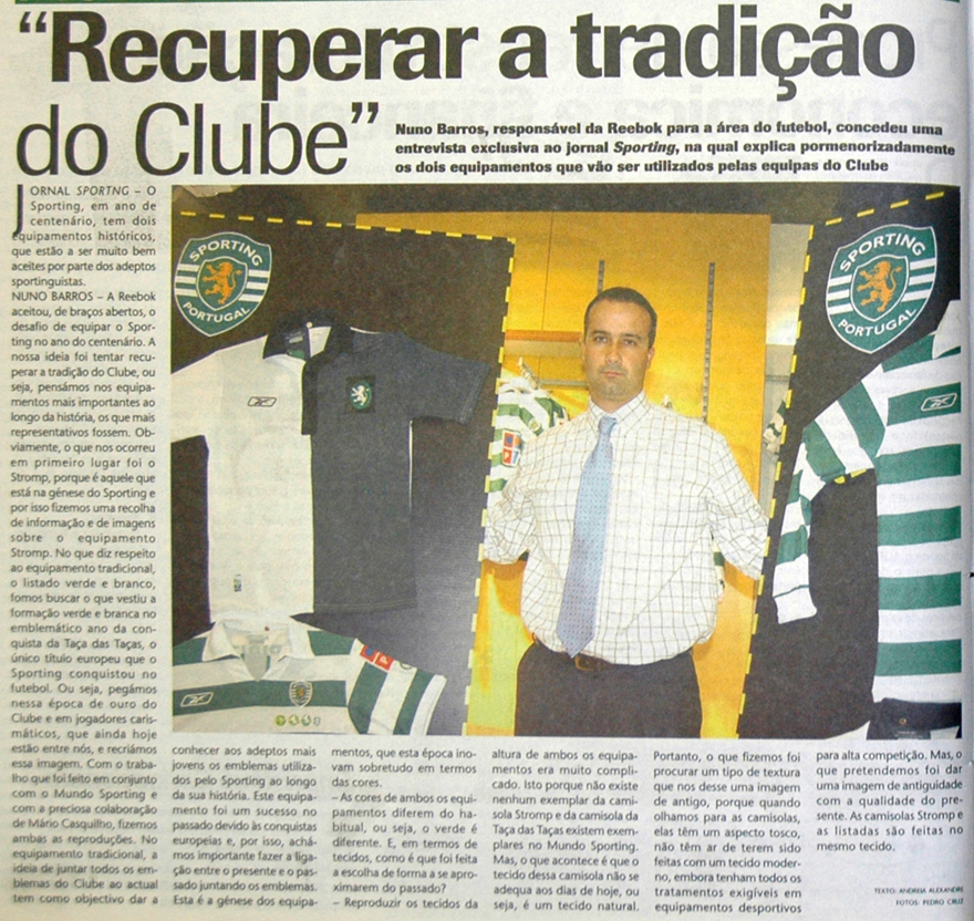 frente e costas de camisola antiga do Sporting da King Sport de Espinho