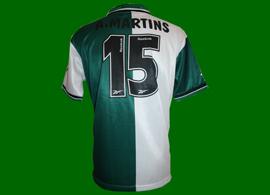 Camisola Stromp oficial do jogador do Sporting Afonso Martins 1999/00