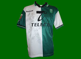 Official matchworn Sporting Stromp shirt, player Afonso Martins 1999/00