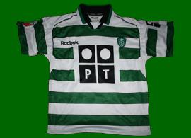 Camisola oficial do jogador do Sporting Afonso Martins 2001/02. Campeão Nacional