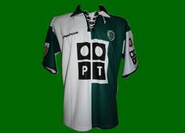 2002/2003. Camisola Stromp oficial do capitão Beto, com emblema de Campeão Nacional. Sporting