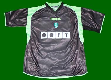 equipamento de jogo do jogador de futebol do Sporting Beto, da Taça UEFA