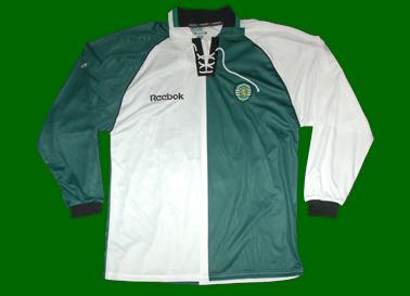 2001/02. Equipamento do jogador da equipa B do Sporting Bruno Caires