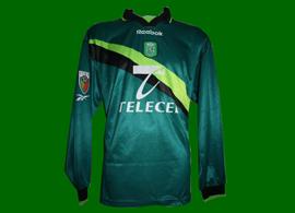 Sporting Clube de POrtugal equipamento de jogo 1999 2000 Delfim jogador tricolor