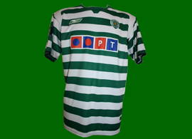 2004/2005. Match worn shirt, player Fabio Rochemback, UEFA Cup game Sporting Lisbon 2004/05