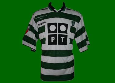 2001/02. Equipamento de Futebol do Sporting, usado na Final da Taça de Portugal por Marius Niculae