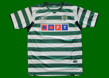 equipamento Sporting 2004/05 final Taça UEFA Alvalade
