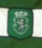 Equipamento do Sporting de jogo, modelo Taça UEFA, do jogador Hugo Vieira