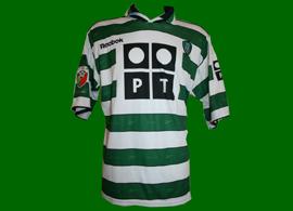 Pre season match worn jersey, worn by Hugo Vieira 2001/02 Sporting Lisbon