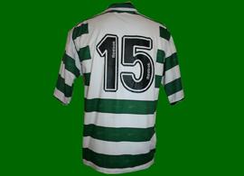 Camisola principal de jogo, usada por Hugo Vieira num jogo da pré-época 2001/02 do Sporting