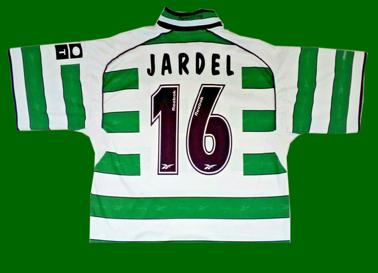 1999/2000. Camisola de futebol, réplica da Loja Verde personalizada Jardel