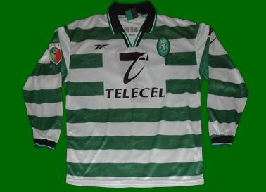 old match worn shirt Sporting Lisbon Leandro
