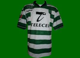 Equipamento preparado para Marco Almeida 1999 2000 Sporting, para a final da Taça de Portugal 1999/00