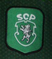 Camisola de jogo alternativa Quim Berto 2000 2001 emblema do Sporting